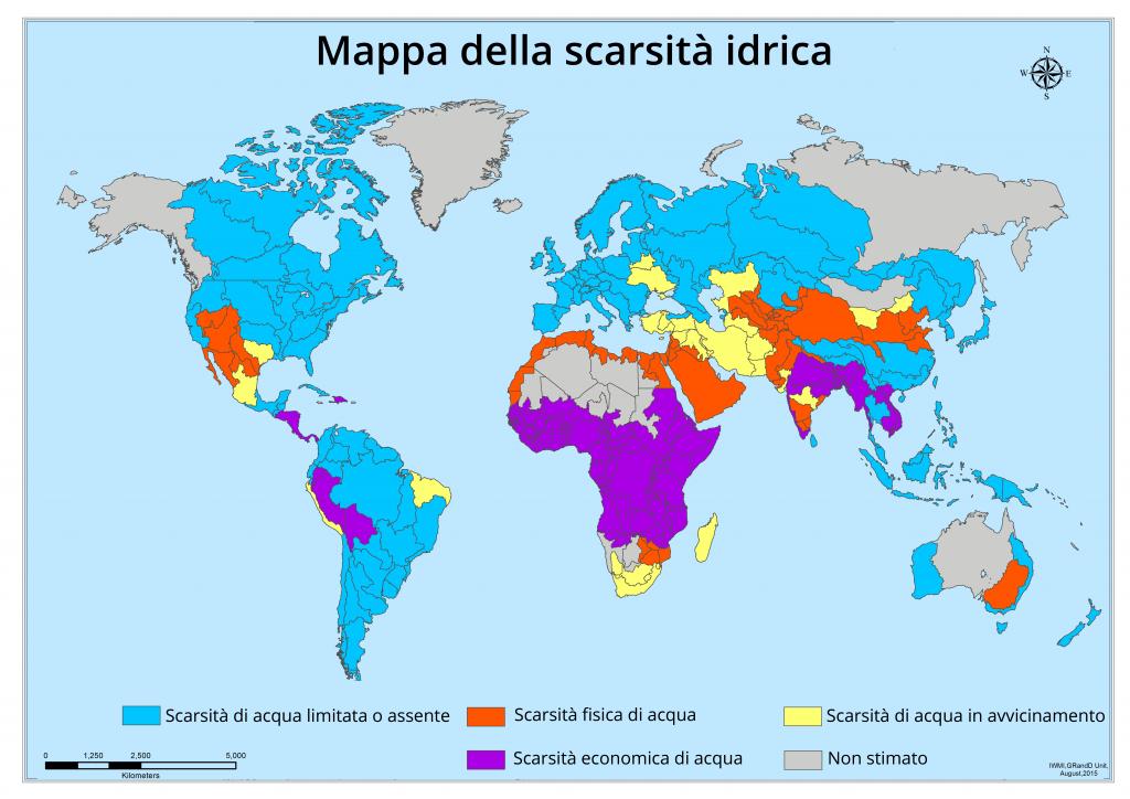 TESEO - Mappa della scarsità idrica