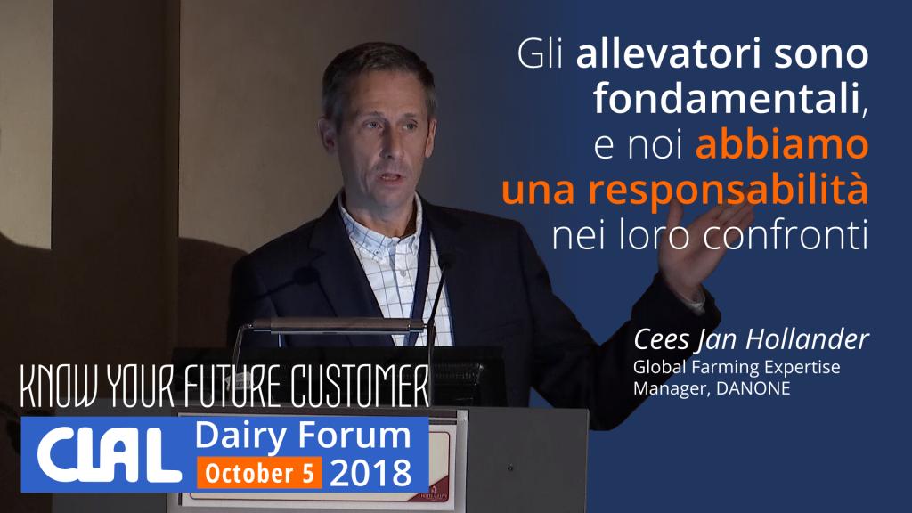 Cees Jan Hollander, Danone, al CLAL Dairy Forum 2018