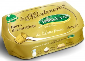 Il Burro La Montanara prodotto da Dalla Torre, con packaging compostabile