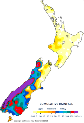CLAL.it - New Zealand cumulative rainfall 30/01 - 05/02