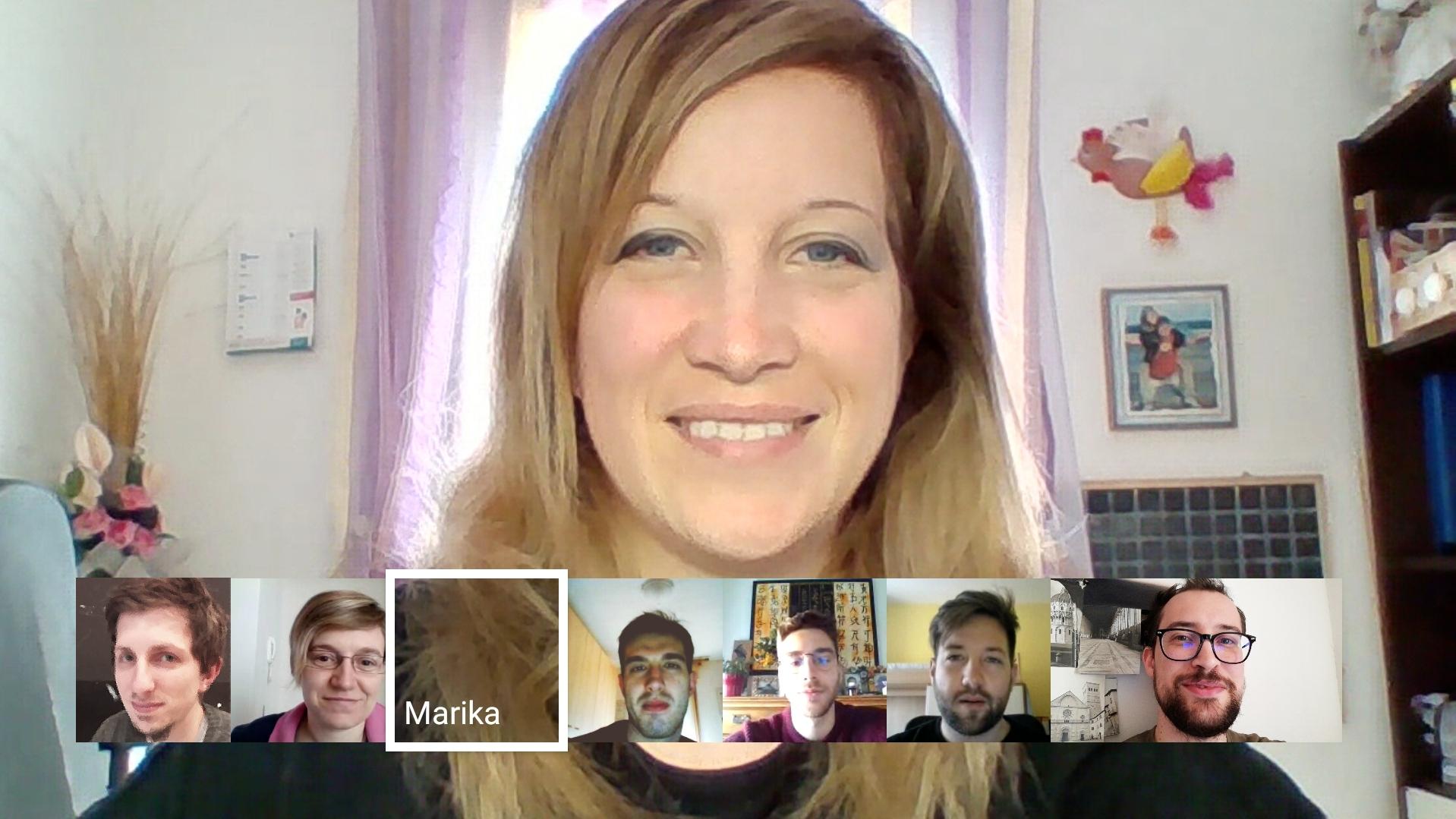 Il Team di CLAL in videoconferenza