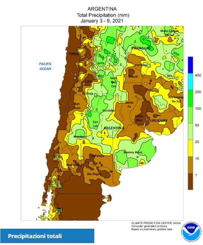 CLAL.it - Precipitazioni Argentina