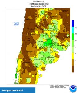 CLAL.it - Precipitazioni in Argentina