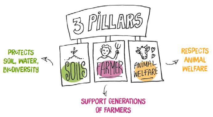 I tre pilastri dell'agricoltura rigenerativa di Danone