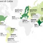 CLAL.it – Mappa delle produzioni di latte nel mondo